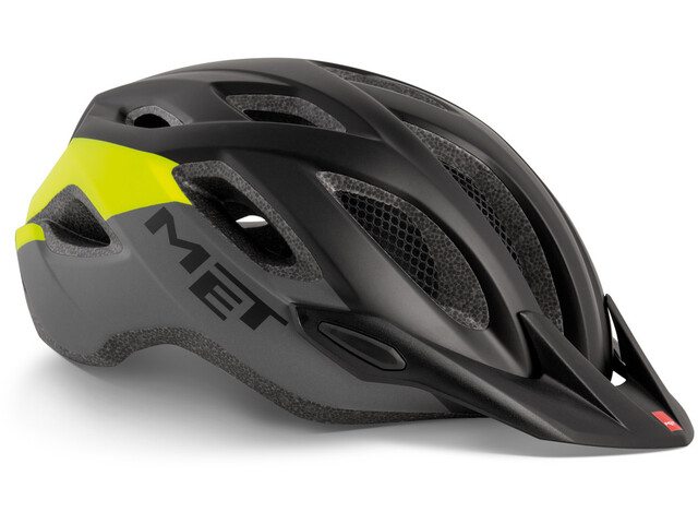 MET Crossover Helm black safety yellow